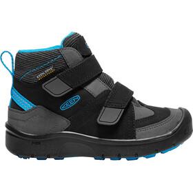 Keen Hikeport Mid Strap WP Shoes Kinder black/blue jewel